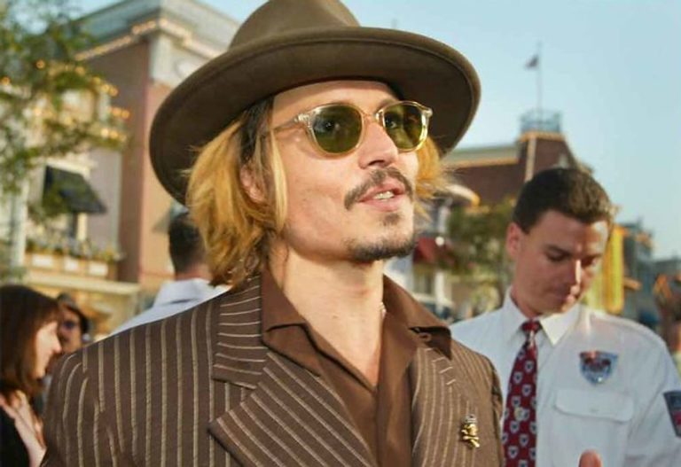 Johnny Depp at Pirates of the Caribbean event
