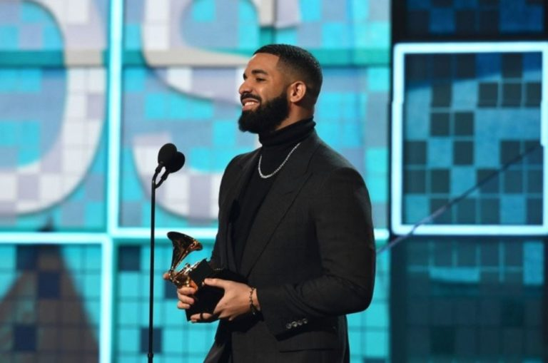 Drake disses Grammys during his acceptance speech and gets cut off