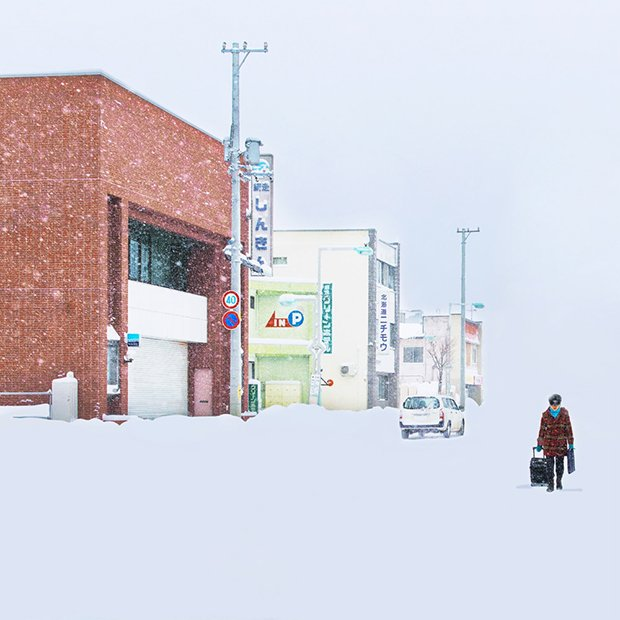 Exploring Chinese photographer Ying Yin's spectacular Japanese cities lost in snow 1