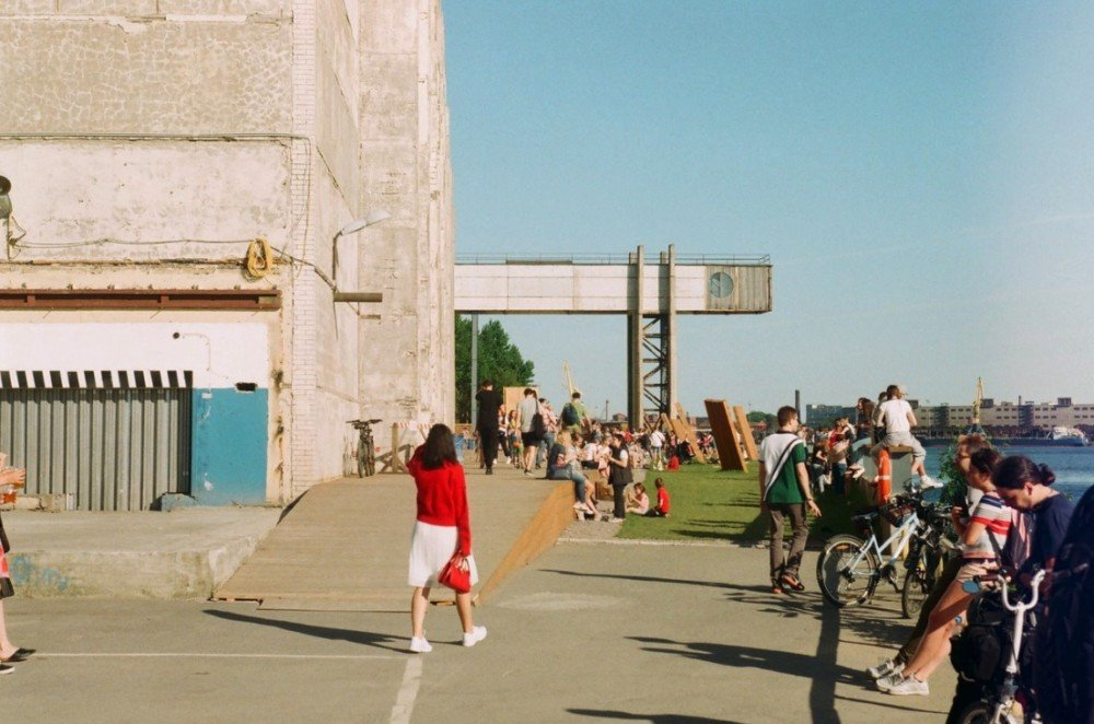Former Soviet factory in St Petersburg, Russia, transformed into art zone