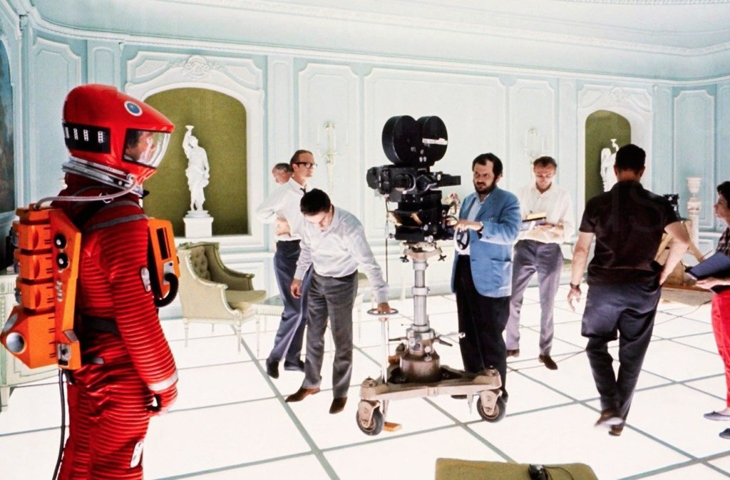 Revealing behind the scenes photos from pioneering Stanley Kubrick film 2001 A Space Odyssey 1024x673.'