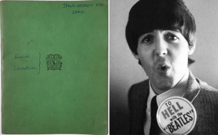 Paul McCartney's old school book sold for £46,800
