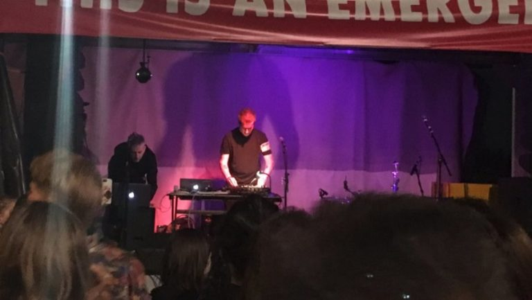 Massive Attack play surprise set at London's Rebellion Climate Protest
