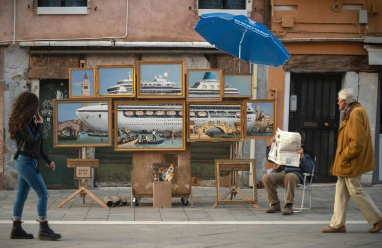 Banksy sets up secret art stall at Venice Biennale, quickly gets kicked out