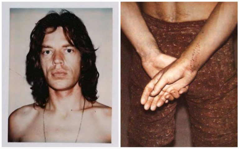 Andy Warhol's Polaroids of Rolling Stones frontman Mick Jagger