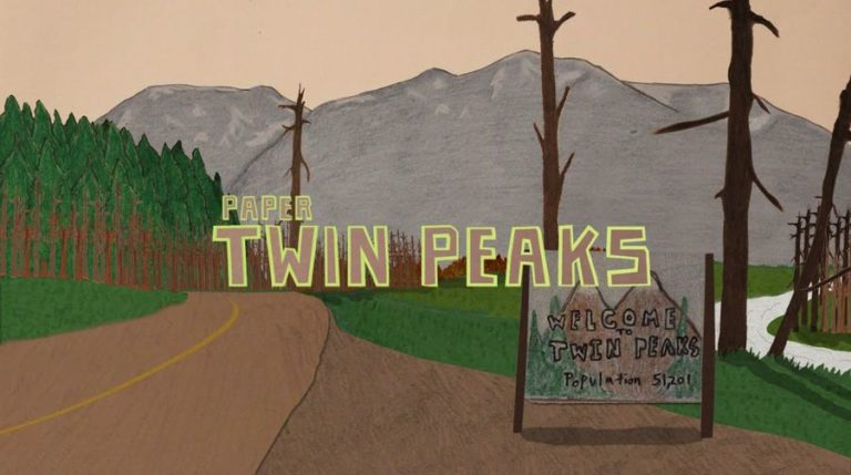 Enjoy the intro for 'Twin Peaks' completely remade in paper