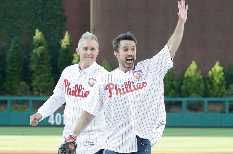 Mac from 'It's Always Sunny in Philadelphia' finally gets to play catch with Chase Utley