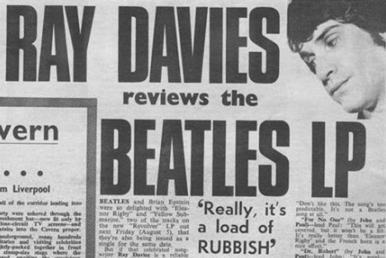 The Kinks' Ray Davies once reviewed The Beatles album 'Revolver' - Really, it's a load of rubbish