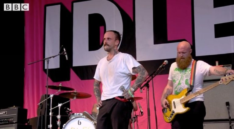 Watch an emotional IDLES rip up The Park Stage at Glastonbury Festival