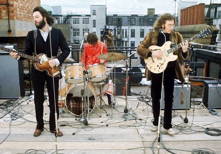 Wonderful colour photographs of The Beatles' iconic rooftop concert, 1969