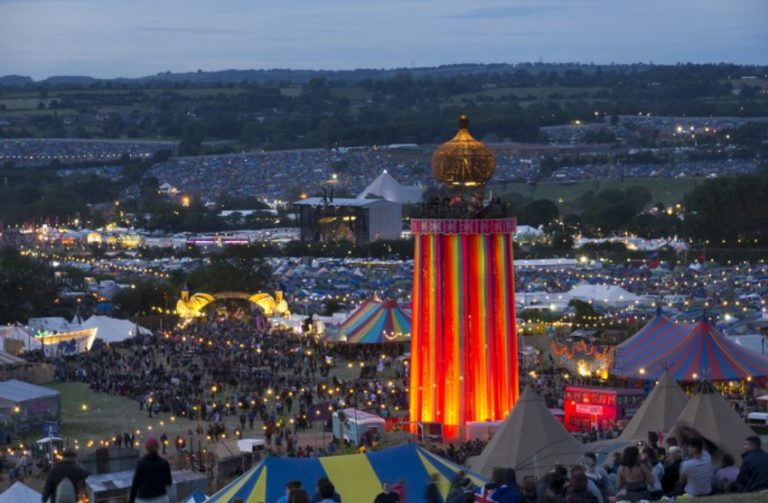 A Glastonbury security guard has been found dead in his tent on the festival site