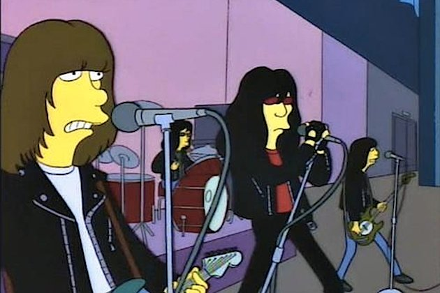 Watch The Ramones give Springfield its first punk gig as they appear on The Simpsons in 1993
