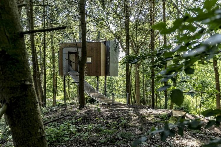 Spectacular treehouse hotel completed in Danish forest