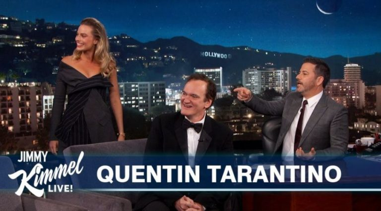 Watch Quentin Tarantino discuss his new film, Leonardo DiCaprio, Brad Pitt, Margot Robbie and more