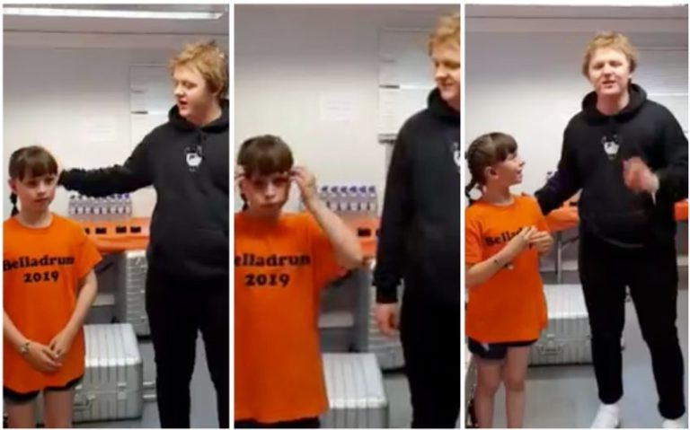 Heartwarming moment Lewis Capaldi performs his music with deaf schoolgirl