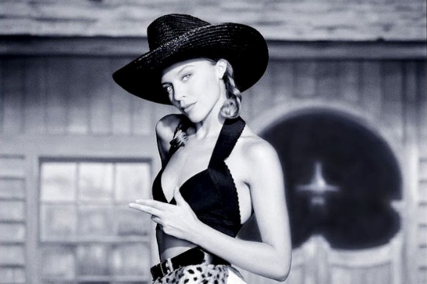 Wonderful vintage black and white photographs of a young Kylie Minogue