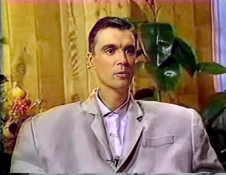 Enjoy the insanity of Talking Heads frontman David Byrne interviewing himself
