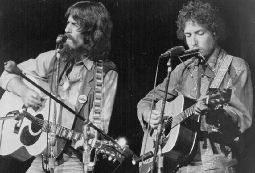 Watch George Harrison and Bob Dylan duet 'If Not For You' at rehearsals for the 'Concert For Bangladesh'