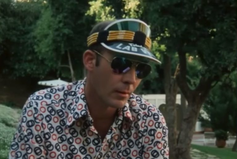 Watch Hunter S. Thompson violently set his Christmas tree on fire