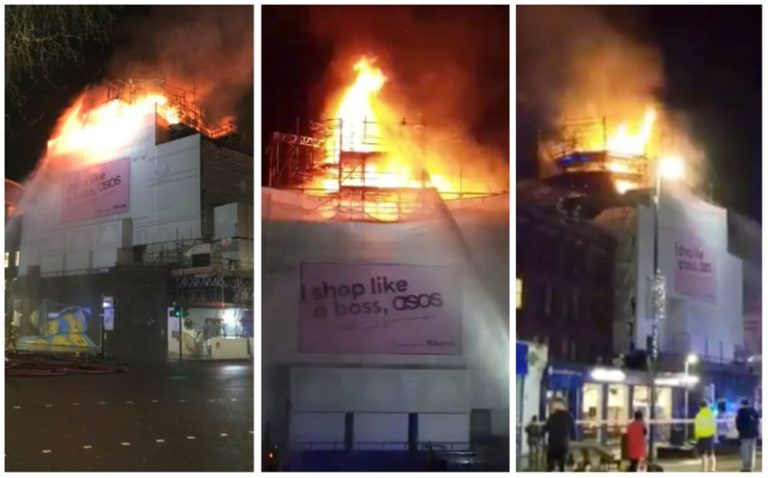 Firefighters battling a blaze at Koko, the iconic music venue in Camden, London