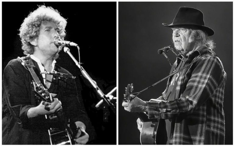Listen to Bob Dylan and Neil Young duet for the first time, 1975