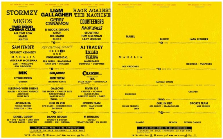Reading and Leeds Festival criticised for the lack of female artists