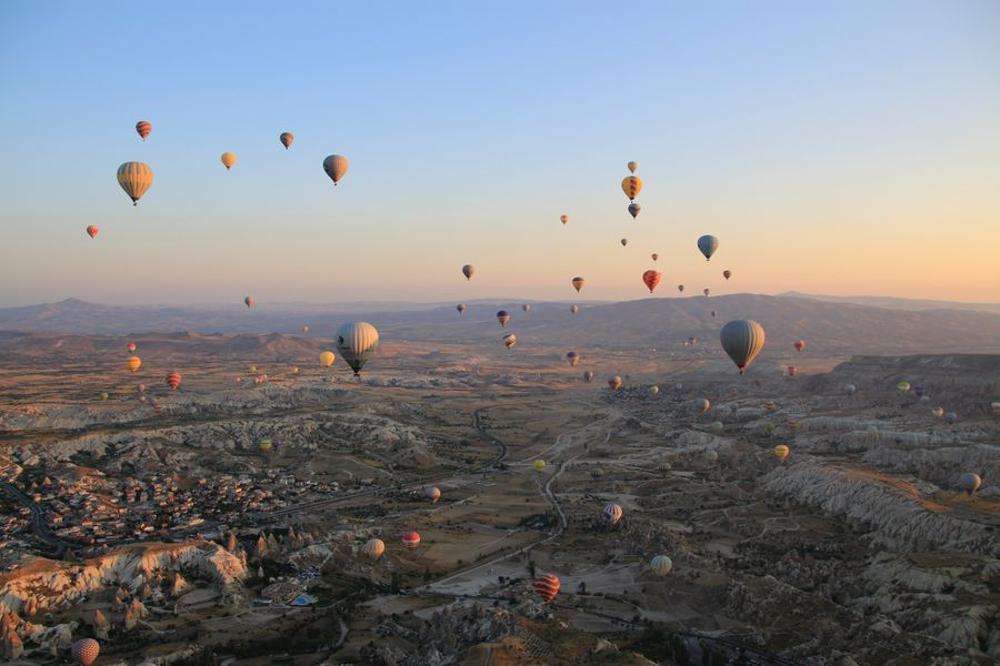 spectacular hot air balloons of Cappadocia, Turkey