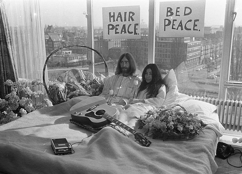Revisiting John Lennon and Yoko Ono's iconic 'bed-in for peace' protest