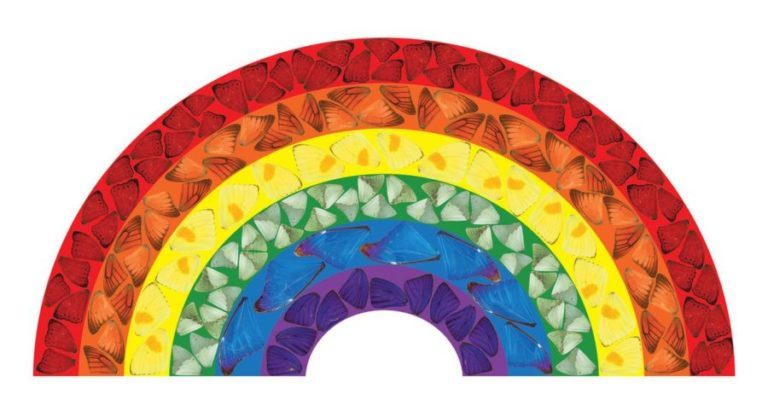 Damien Hirst creates new work 'Butterfly Rainbow' in support of the NHS