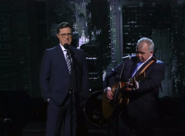 Stephen Colbert shares previously unseen duet with John Prine