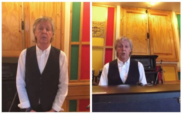 Watch Paul McCartney perform Beatles song 'Lady Madonna' from home