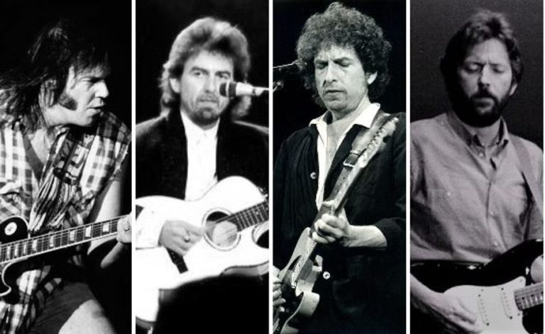 Neil Young George Harrison Tom Petty Bob Dylan Eric Clapton
