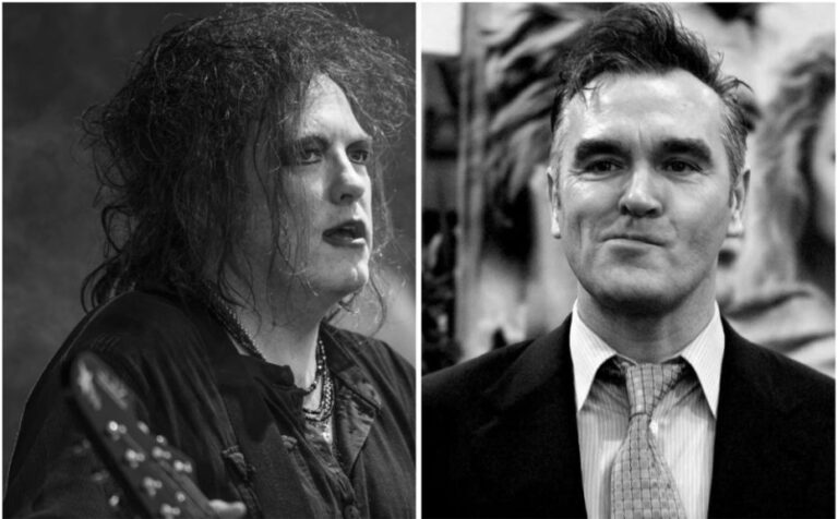 A look back at the vicious rivalry between Morrissey and The Cure's Robert Smith