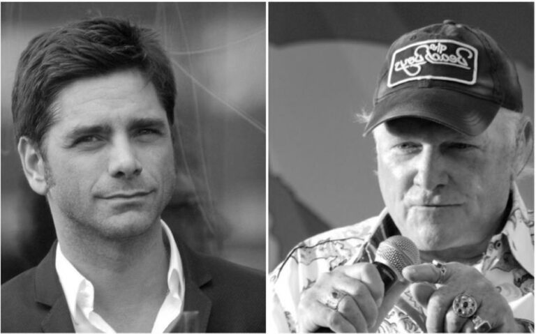 Former Beach Boys members Mike Love and John Stamos have reunited for a new charitable cause with 'This Too Shall Pass'.