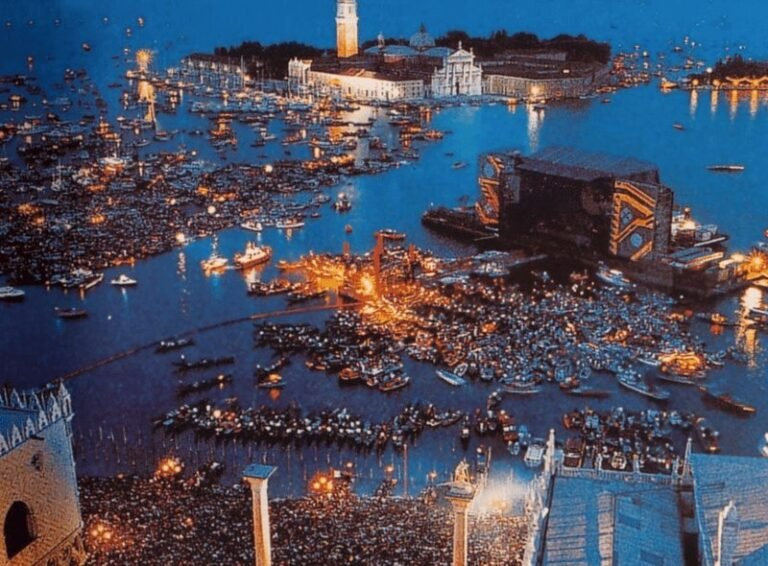 Revisiting Pink Floyd's iconic floating concert in Venice, 1989 footage