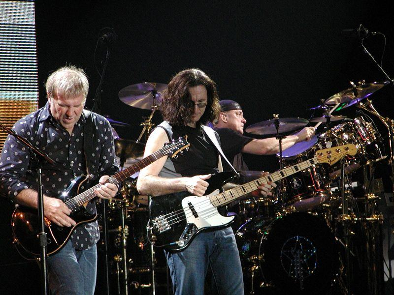 The isolated tracks of Neil Peart and Geddy Lee for Rush