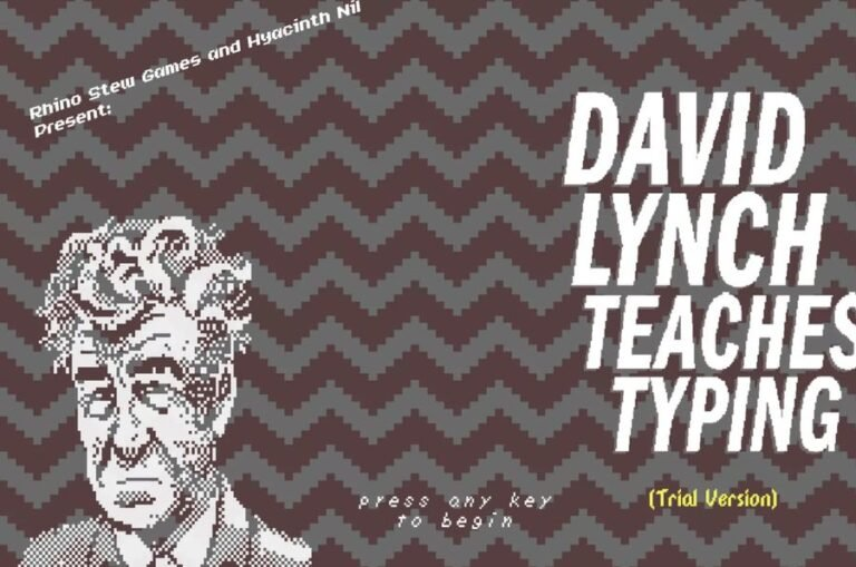 Exploring the absurd and experimental free game 'David Lynch Teaches Typing'