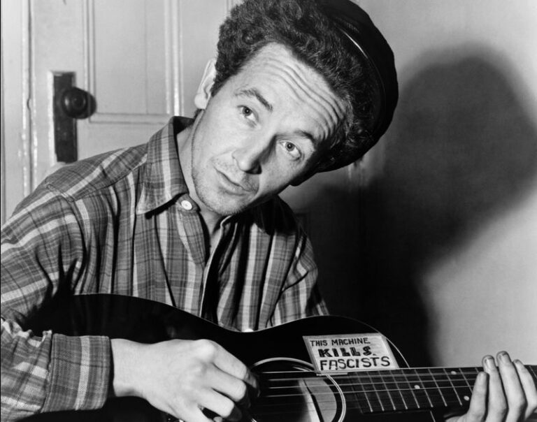 Woody Guthrie performs 'The Wabash Cannonball' at the BBC