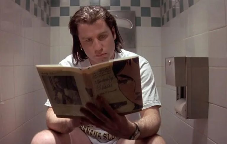 This is the reason why Vincent Vega is always on the toilet in 'Pulp Fiction'
