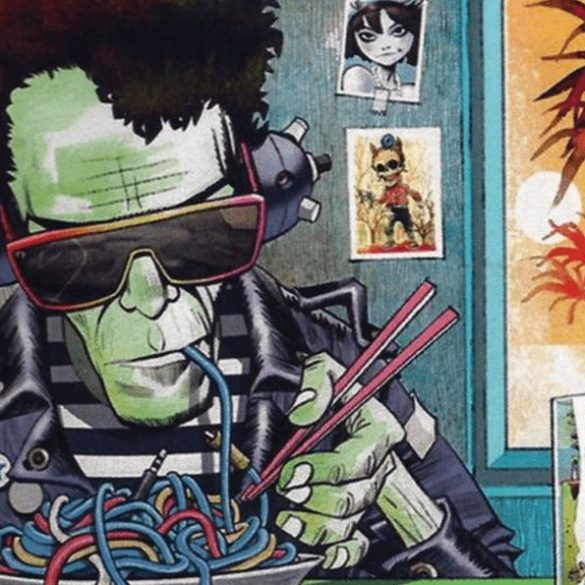When Lou Reed joined Gorillaz on stage at Glastonbury