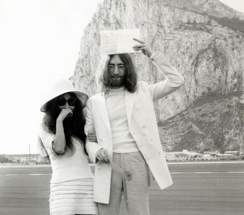 The reason why John Lennon and Yoko Ono got married in Gibraltar