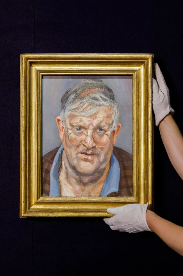 Lucian Freud's portrait of David Hockney sells for £15million at auction