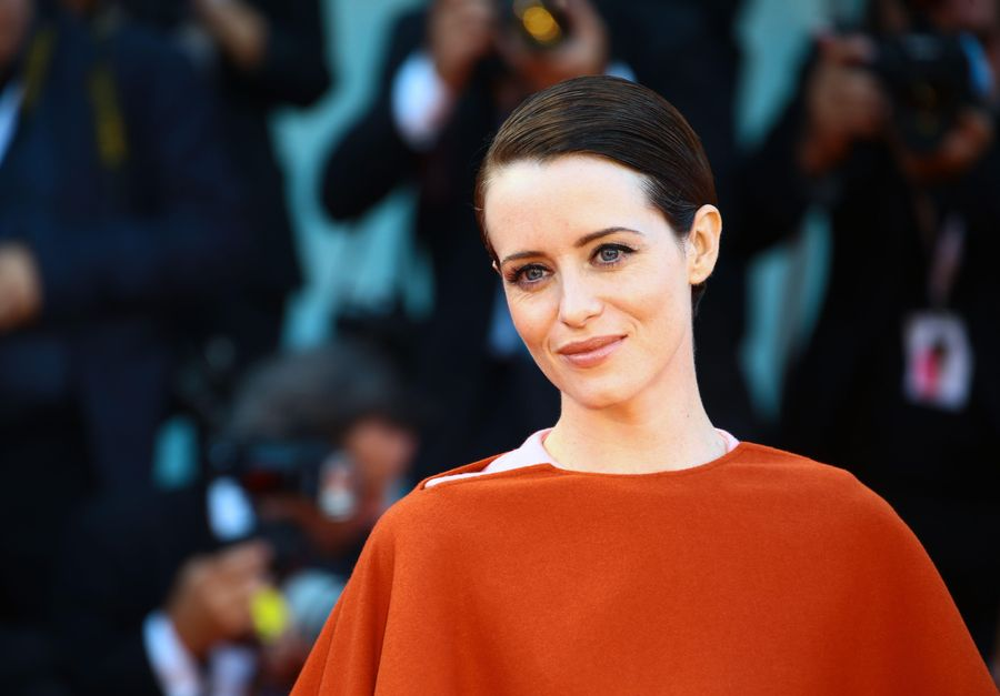 Claire Foy during the red carpet of the 'First Man'